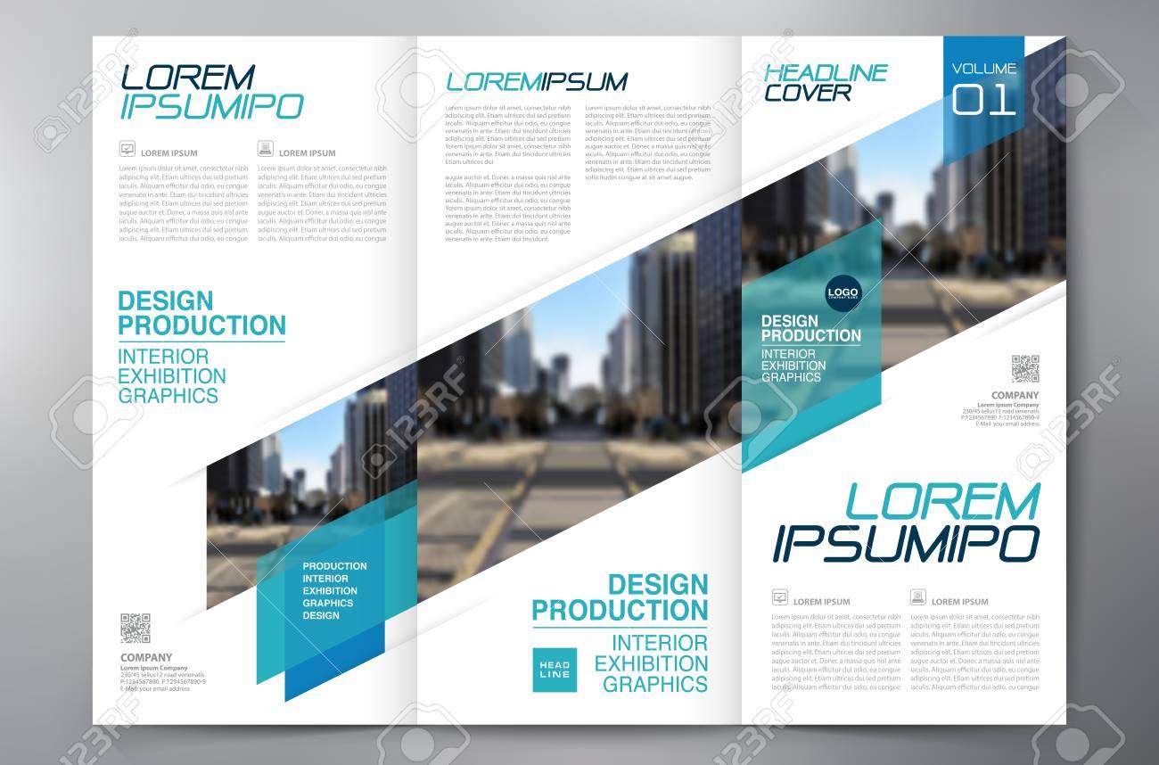 business brochure flyer design leaflets 3 fold template cover
