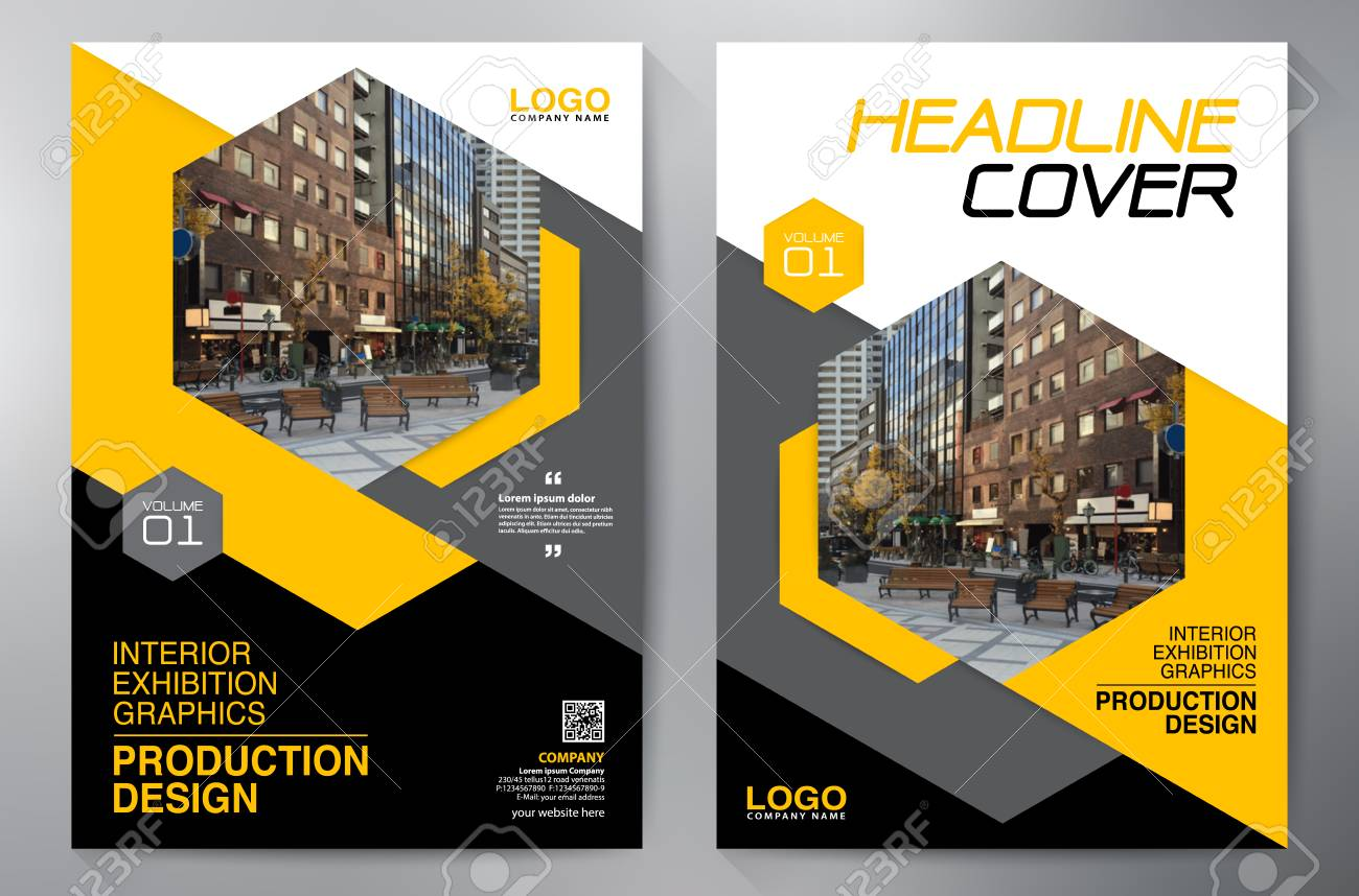 Business Brochure. Flyer Design. Leaflets a4 Template. Cover Book and Magazine. Annual Report Vector illustration - 122807163