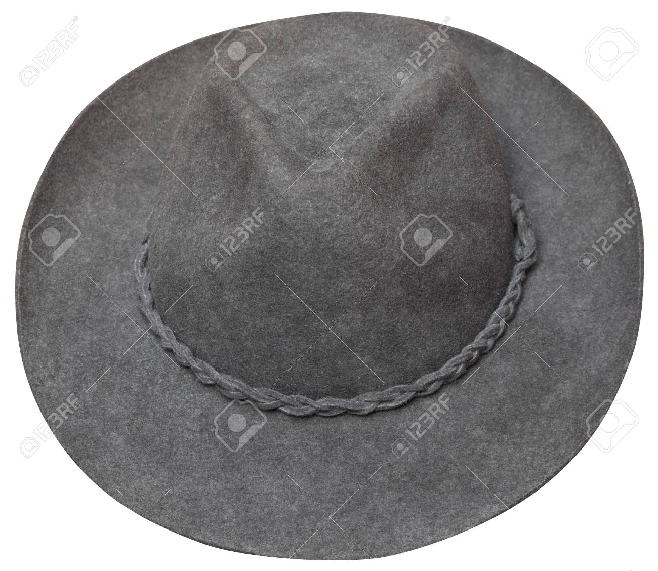 Brown cowboy hat inclined view. This hat was bought in Pisac(Peru) in summer 2011 for 25 sol. Stock Photo - 11965574