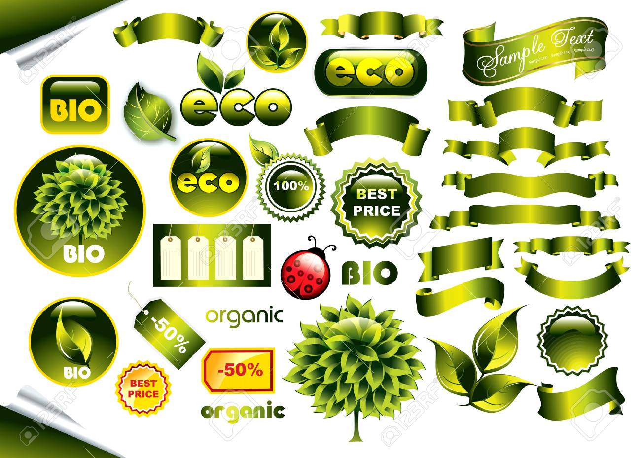 Vector set of eco icons Stock Vector - 9655319