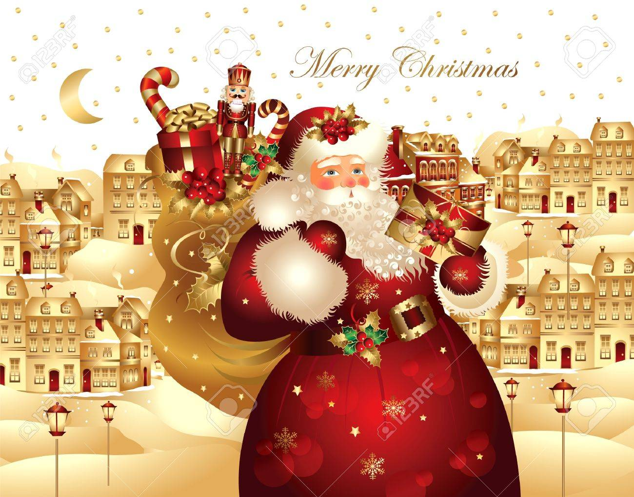 Christmas banner with Santa Claus Stock Vector - 9821516