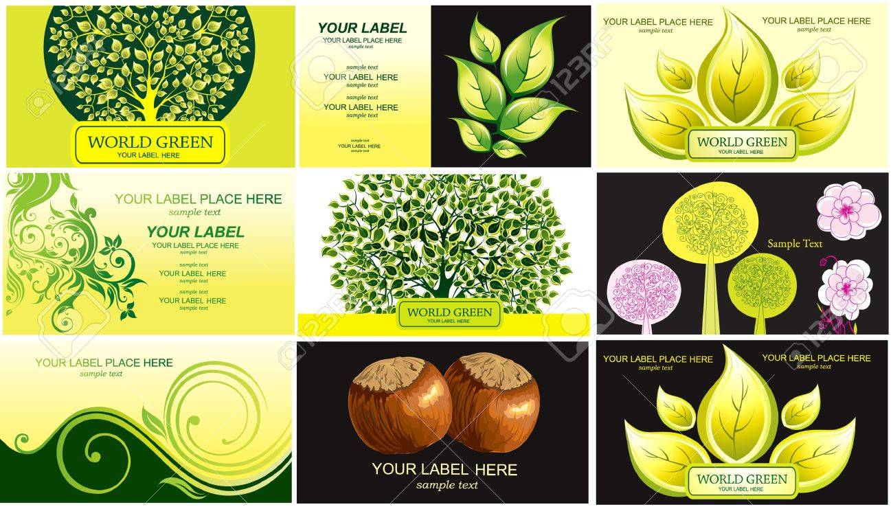 Visiting cards on theme nature Stock Vector - 9868926
