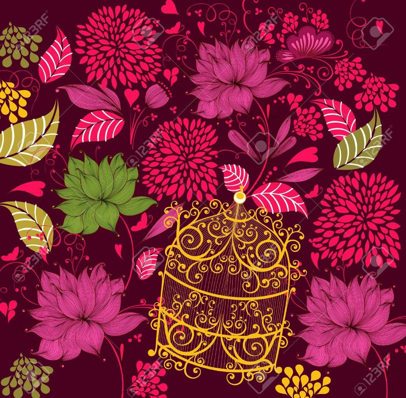 Beautiful floral background Stock Vector - 9775477