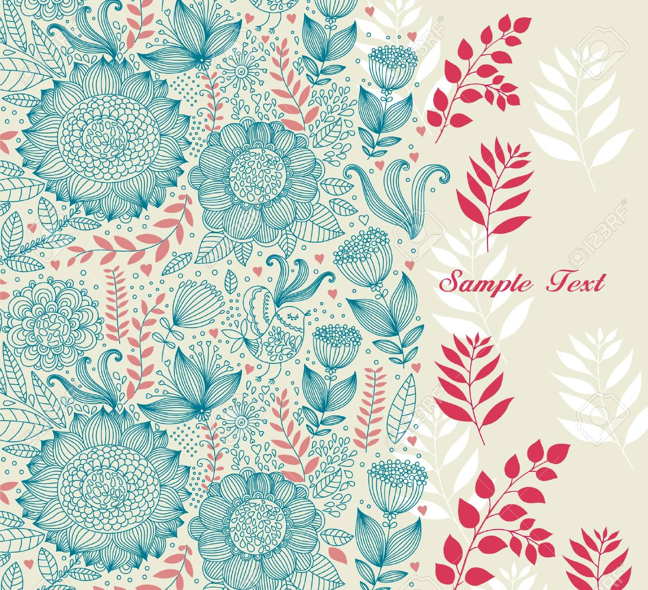 Beautiful floral background Stock Vector - 9732991