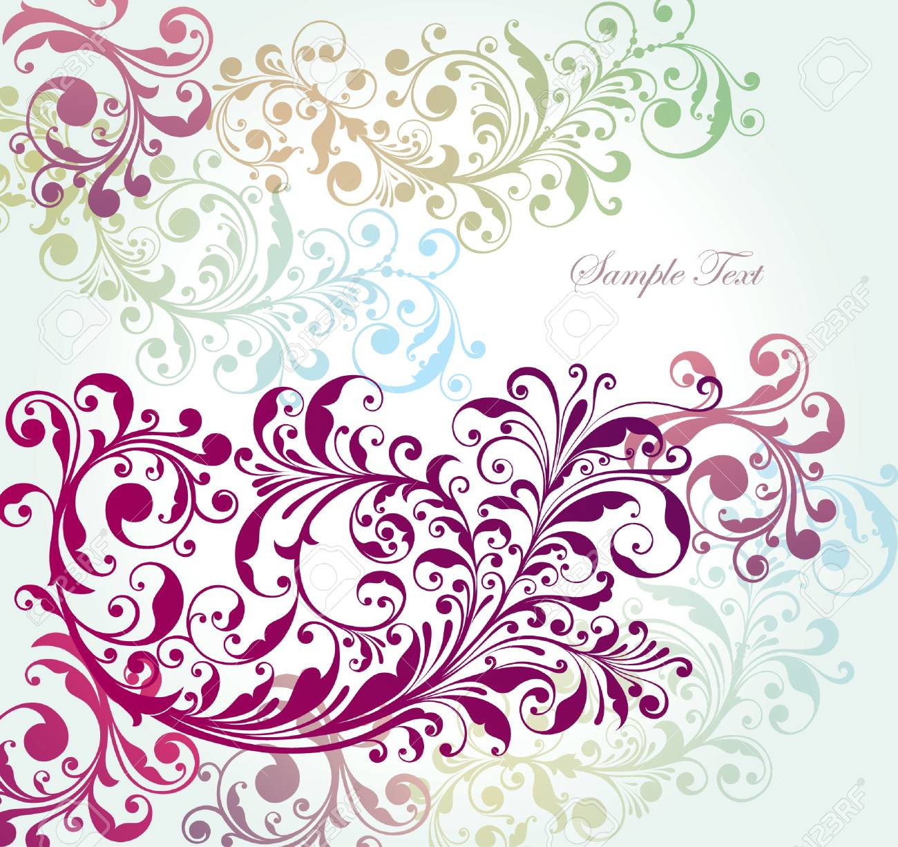 background with a flower pattern. Stock Vector - 9821592
