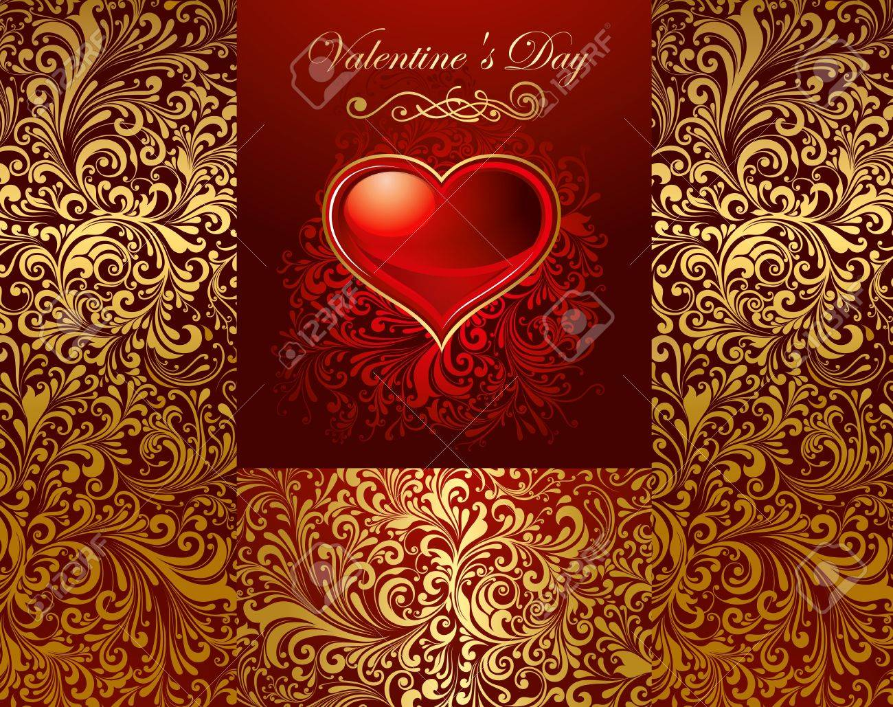 Beautiful card with glossy heart Stock Vector - 11872055