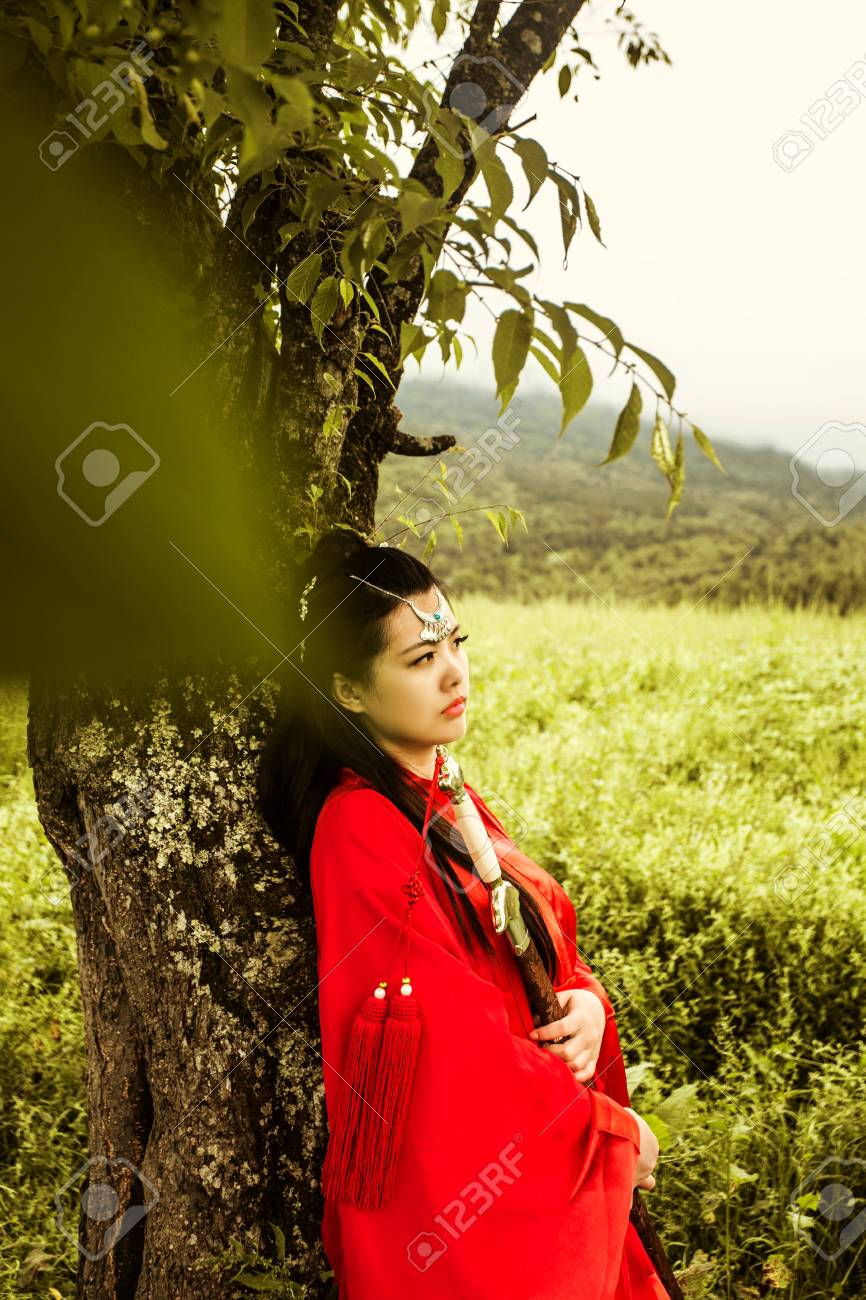 Stock Photo - woman in red ancient chinese costume  sc 1 st  123RF.com & Woman In Red Ancient Chinese Costume Stock Photo Picture And ...