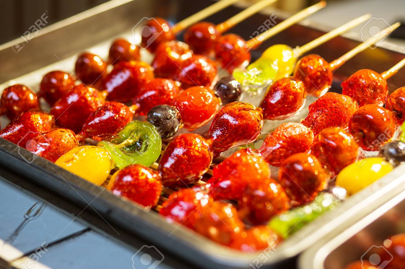 Chinese Specialty Candied Fruit Stock Photo, Picture And Royalty Free  Image. Image 115592800.