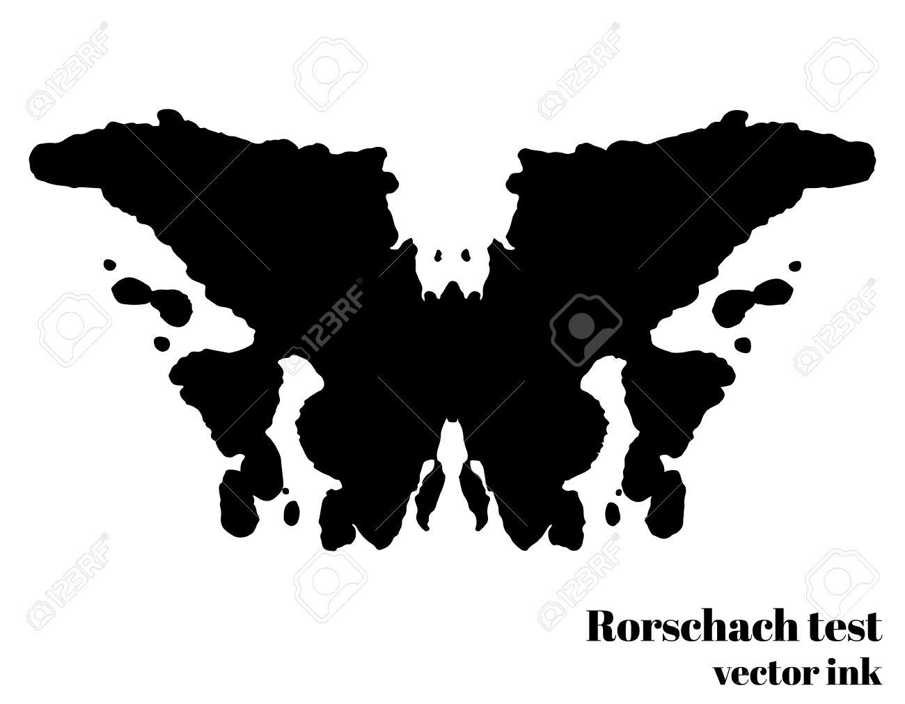 Tinta Prueba De Rorschach Ilustración Vectorial Blot. Examen ...