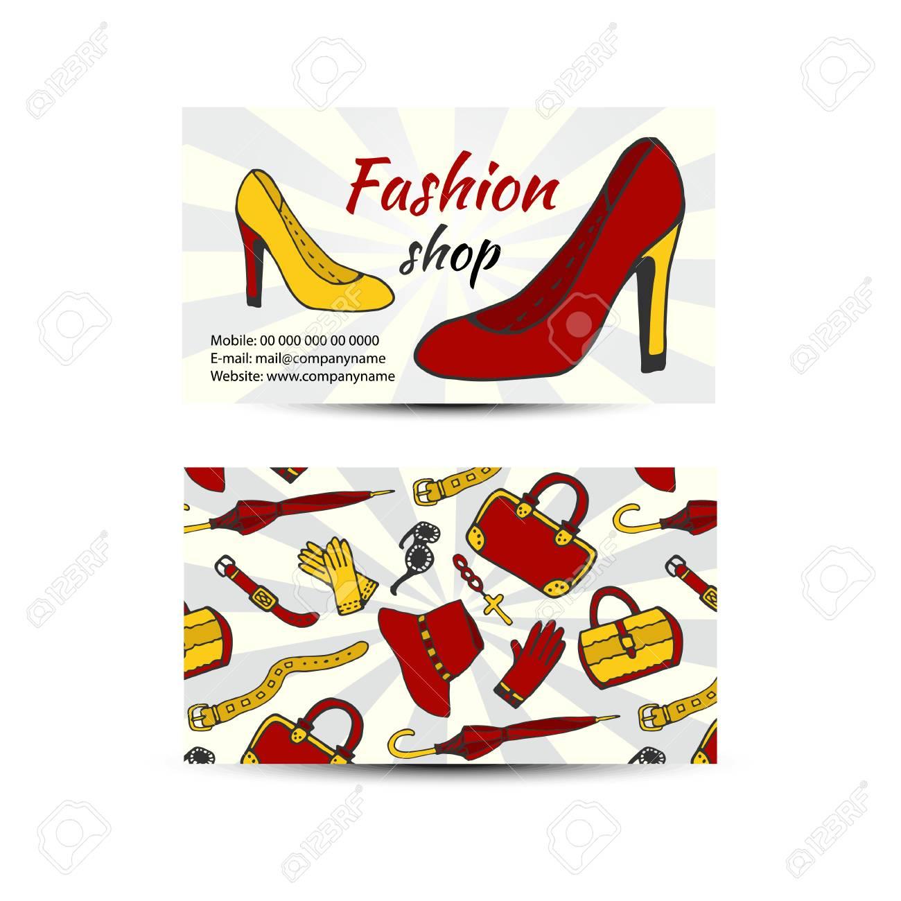 Carte De Visite Pour Boutique Mode Chaussures Et Vetements