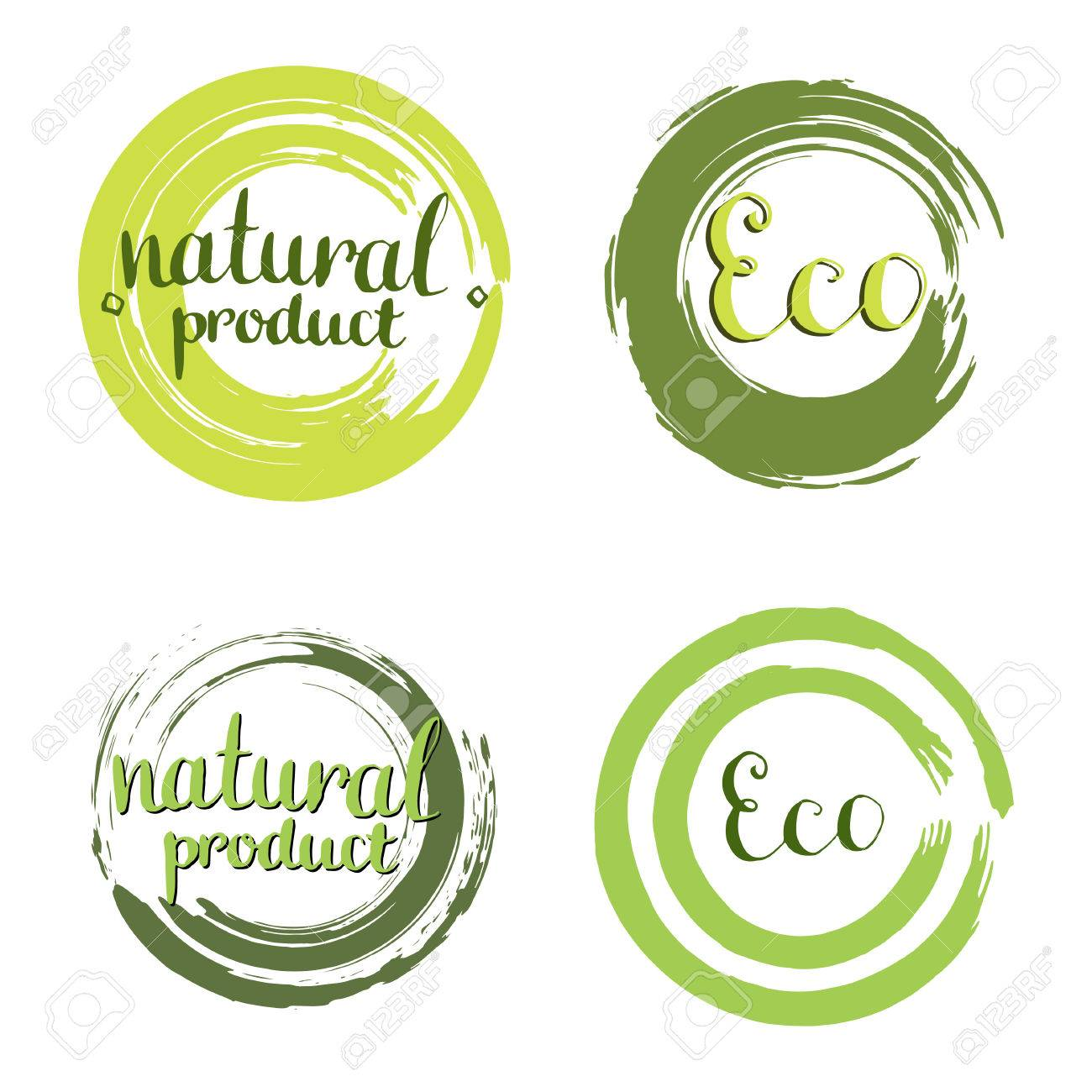 Eco Vector Set With Circle Frames, Design Elements. Label With ...