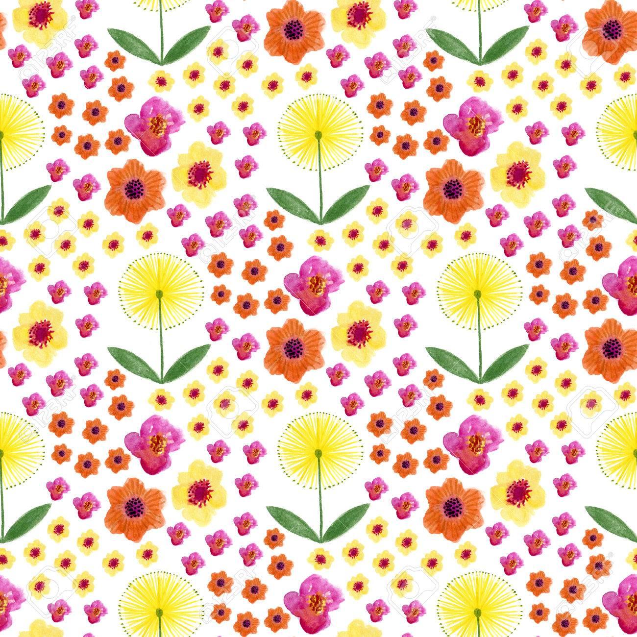 Peindre Papier Peint Motif aquarelle transparente motif floral. main peinture aquarelle fond avec  pissenlit. peut être utilisé pour l'emballage, le textile, le papier peint  et
