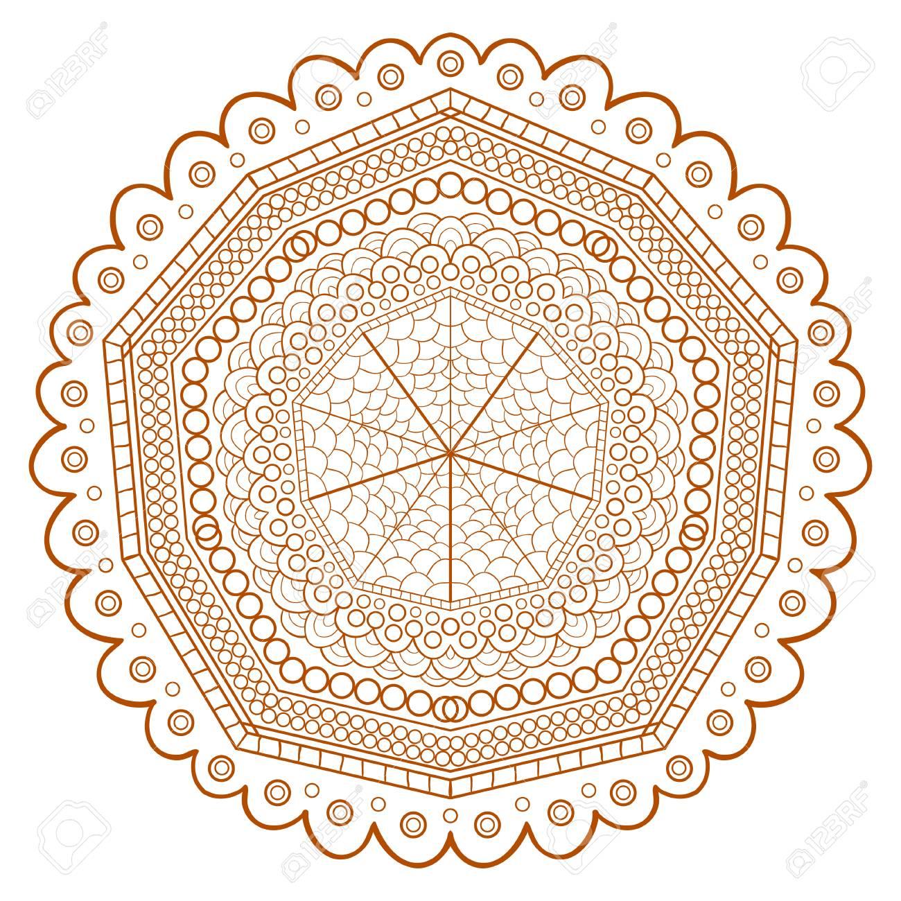 Diseño único Mandala Patrón Para Colorear Las Páginas Del Libro ...