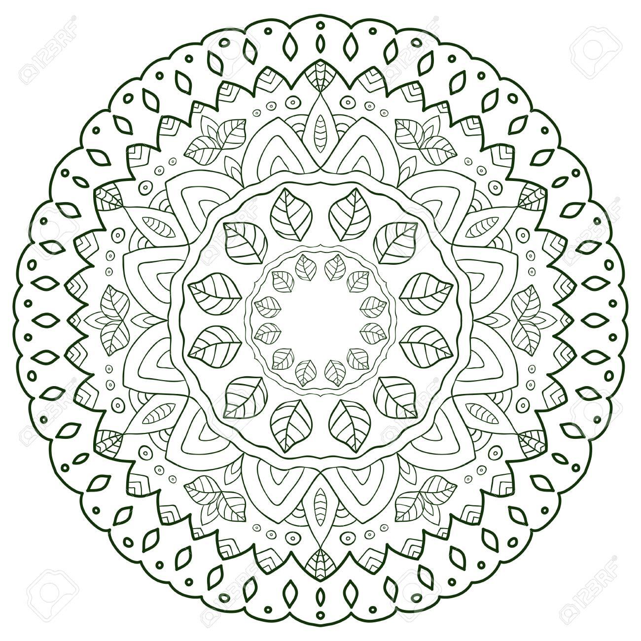 Diseño Creativo De Mandala. Patrón Ornamental Para Páginas De Libro ...