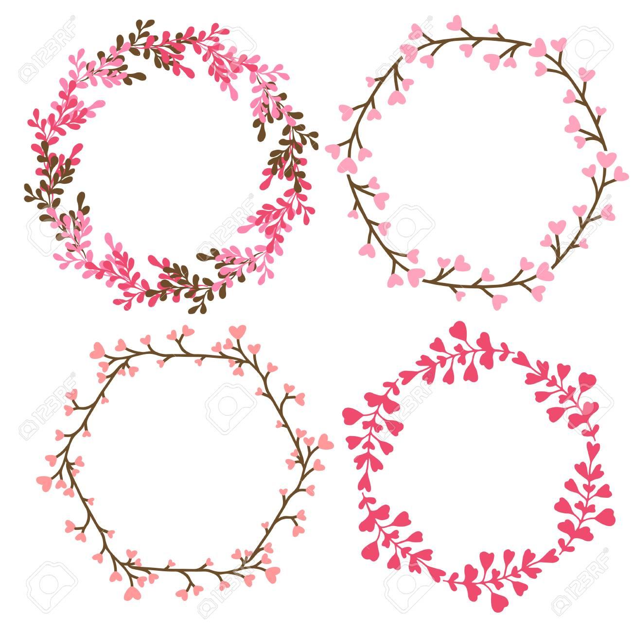 Floral frames decoration vector decorative elements in pink floral frames decoration vector decorative elements in pink color can use for birthday card junglespirit Image collections