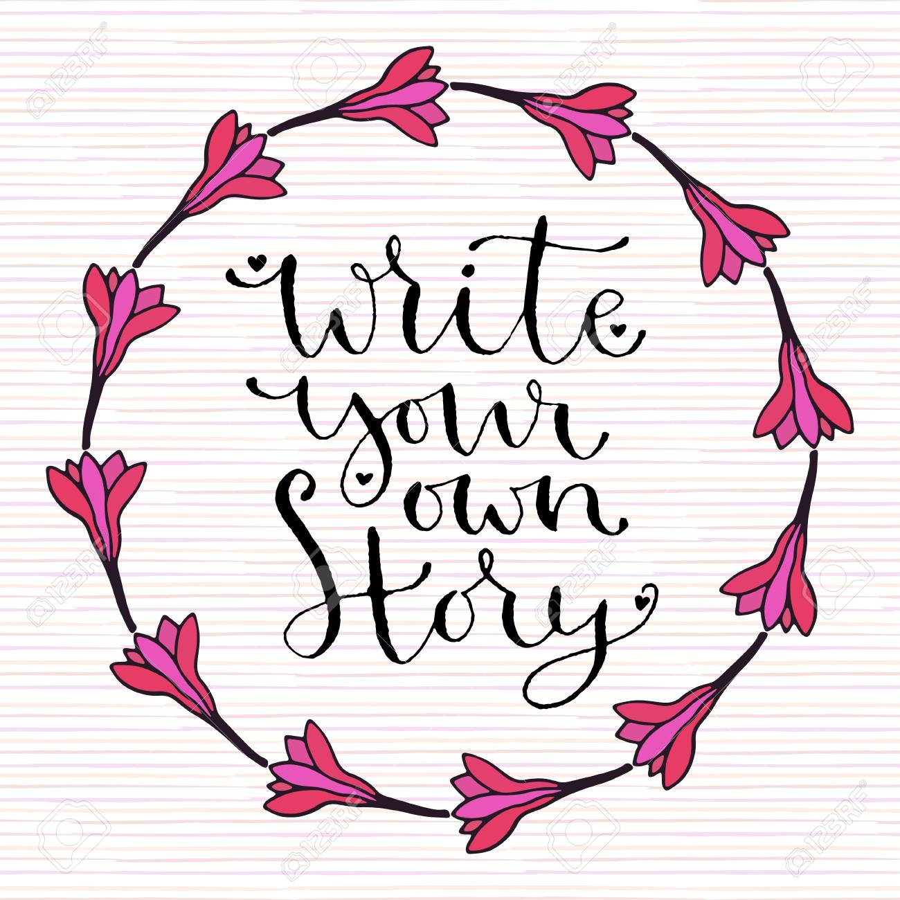 Write Your Own Story Handwritten Greeting Card Design Printable