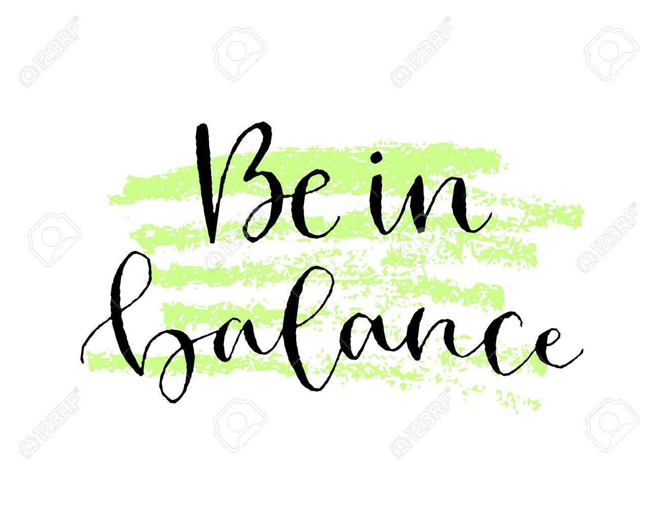 Be In Balance Handwritten Greeting Card Printable Quote Template - Greeting card print template