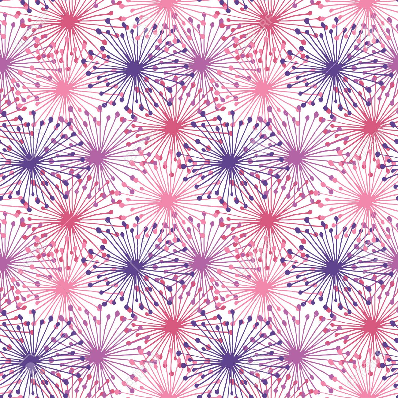 Bright Seamless Pattern In Purple And Pink Colors Repeating Abstract Floral Background Elegant Template For Fashion Prints Texture For Wallpaper