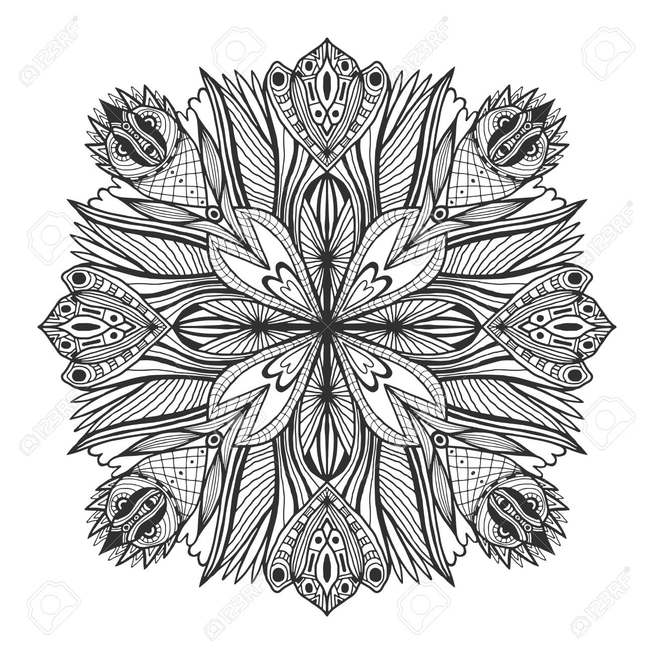 Ornamental Floral Mandala Tattoo Ornament Pattern Vector For
