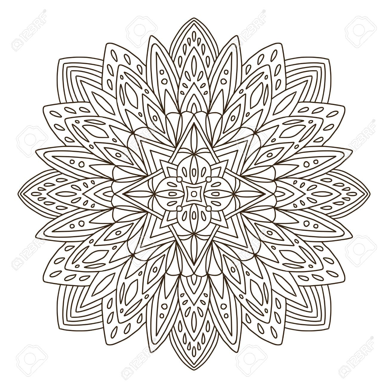 Ornamental Mandala Tattoo Art Design Carpet Ornament Background