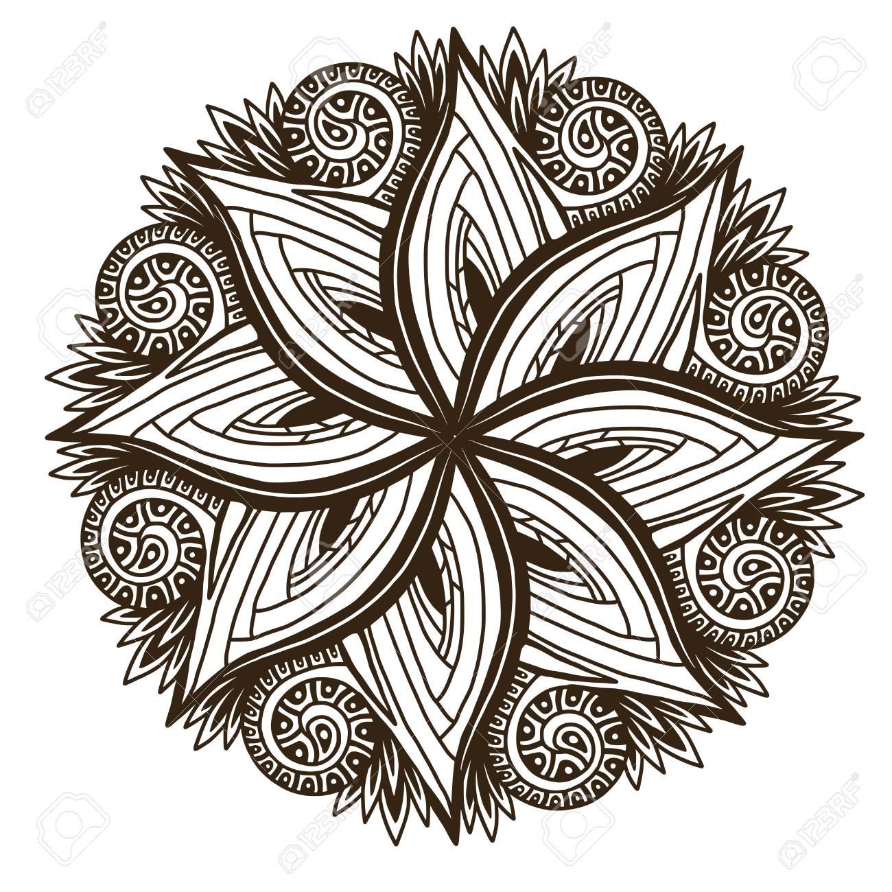 Ornamental Mandala Tattoo Art Design Floral Ornament Pattern