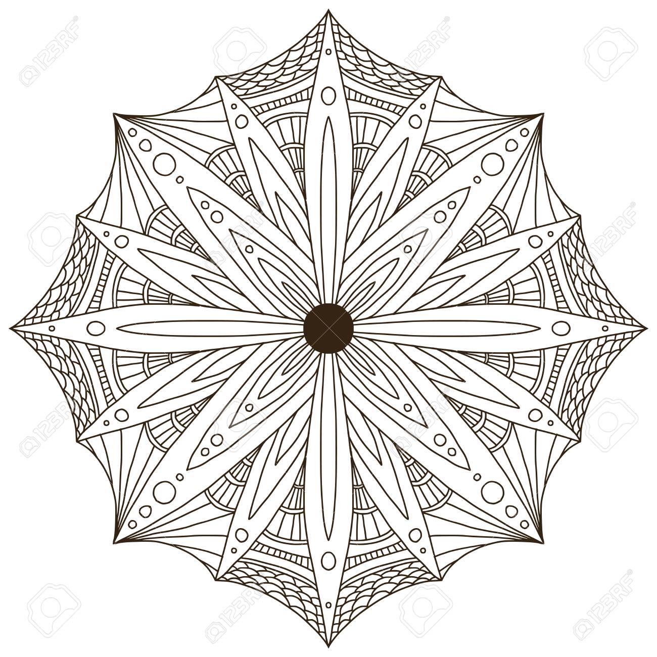 Ornamental Mandala Tattoo Art Design Carpet Abstract Ornament