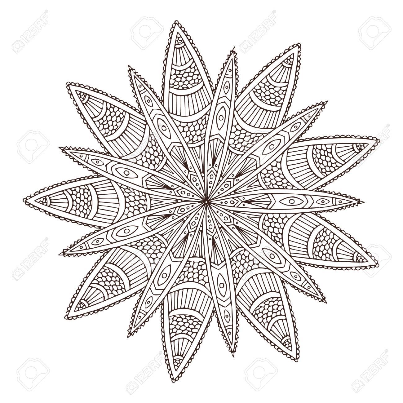 Ornamental Geometric Mandala Flower Tattoo Art Design Carpet