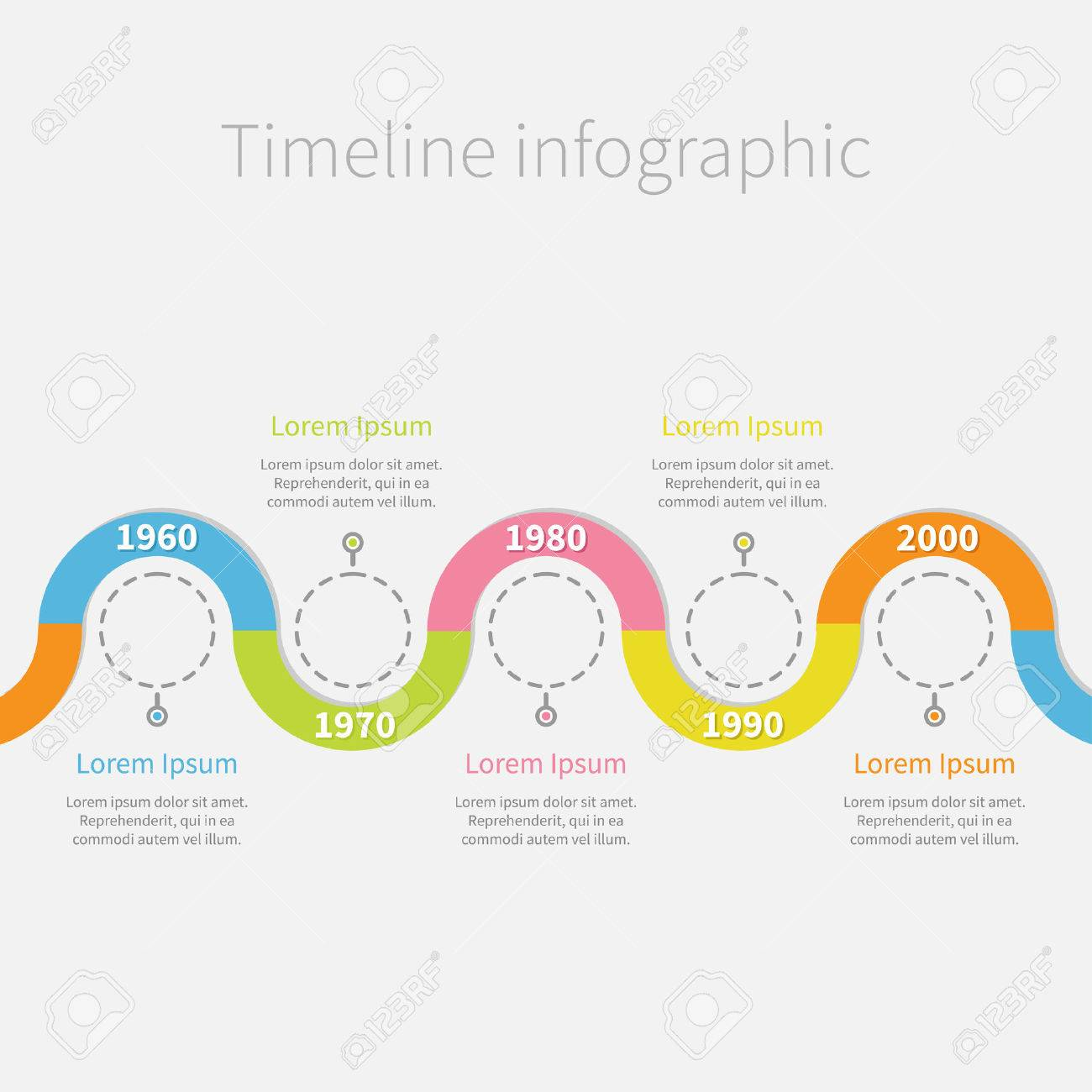 empty flow chart diagram circles flowdiagram 32183707 timeline infographic with snail colored ribbon empty dash line circles and text template flat design - Empty Flow Chart Template