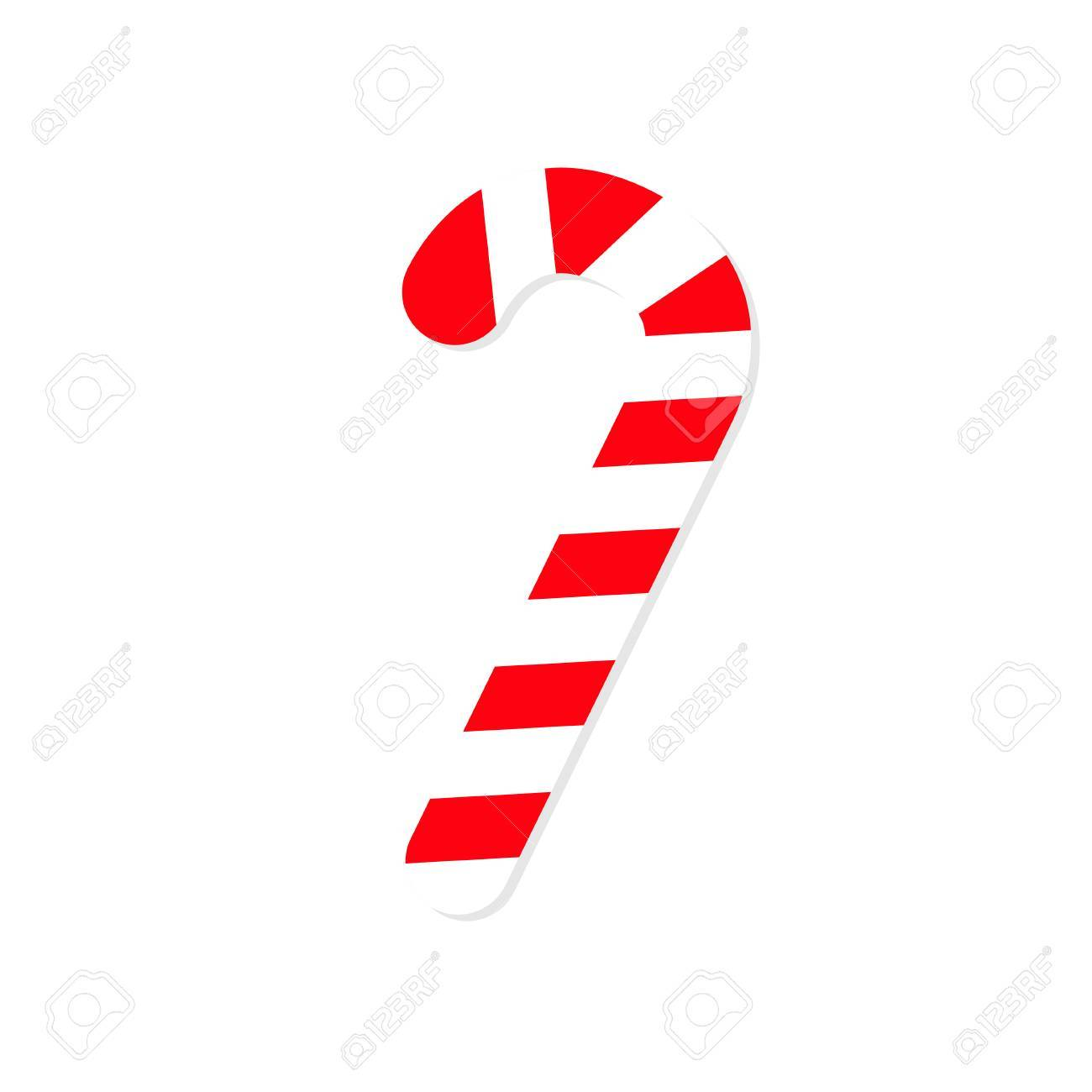 merry christmas candy cane isolated flat design white background rh 123rf com candy cane vector free download candy cane vector pattern