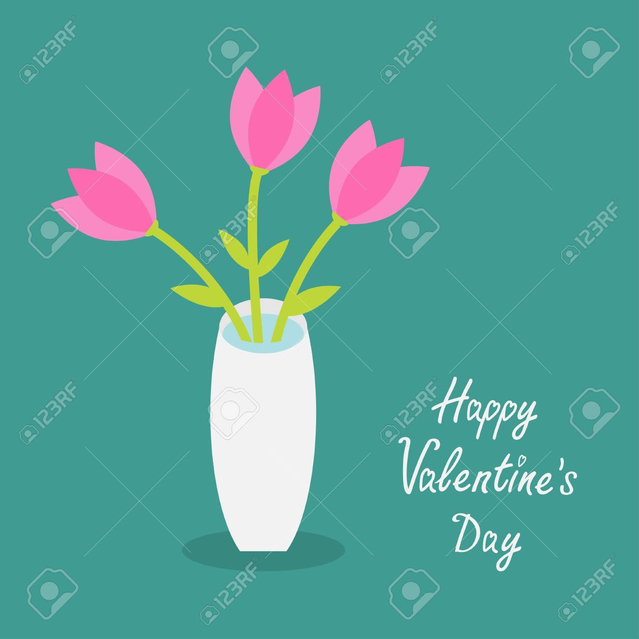 Happy valentines day love card bouquet of pink tulip flowers bouquet of pink tulip flowers in a vase reviewsmspy