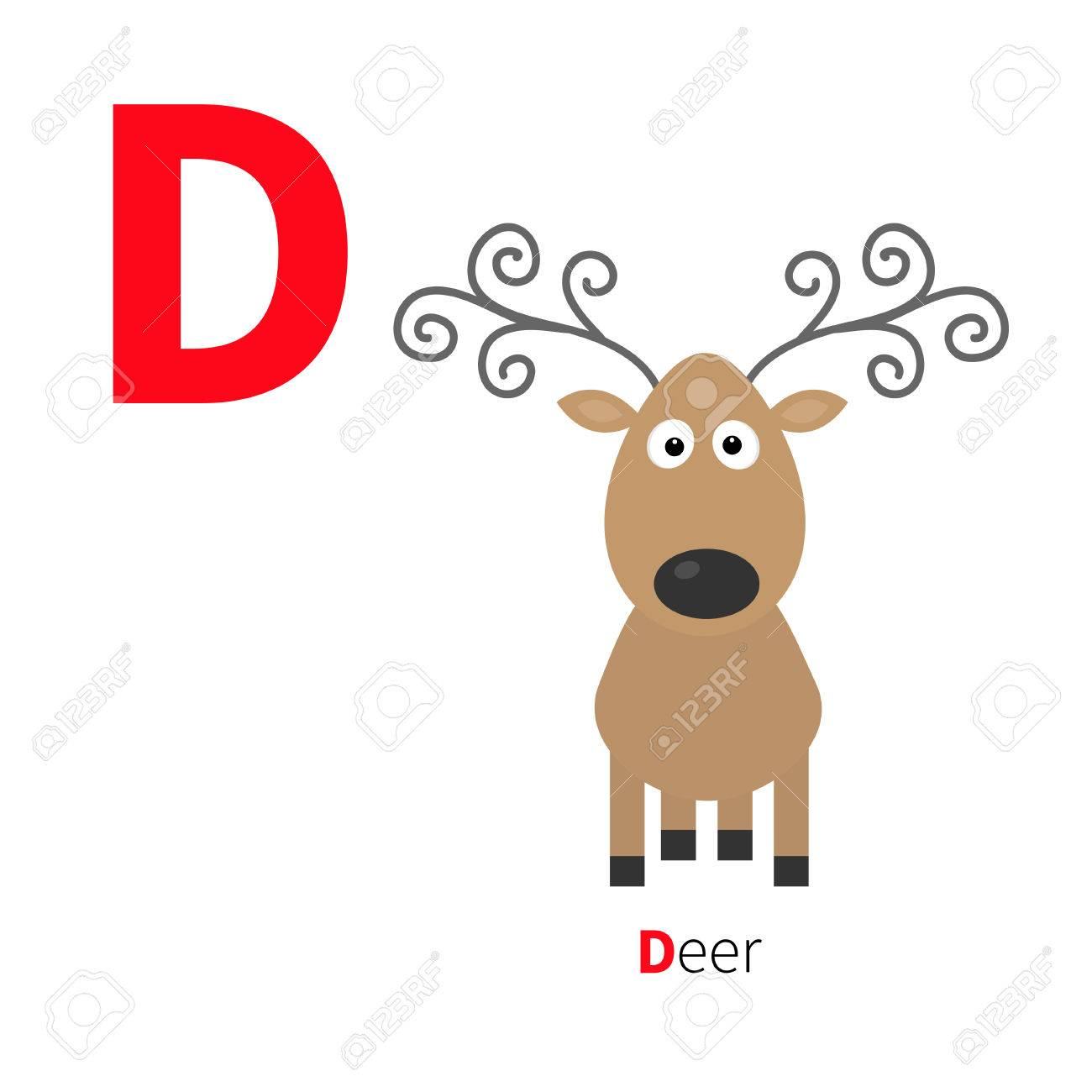 letter d deer zoo alphabet english abc with animals education
