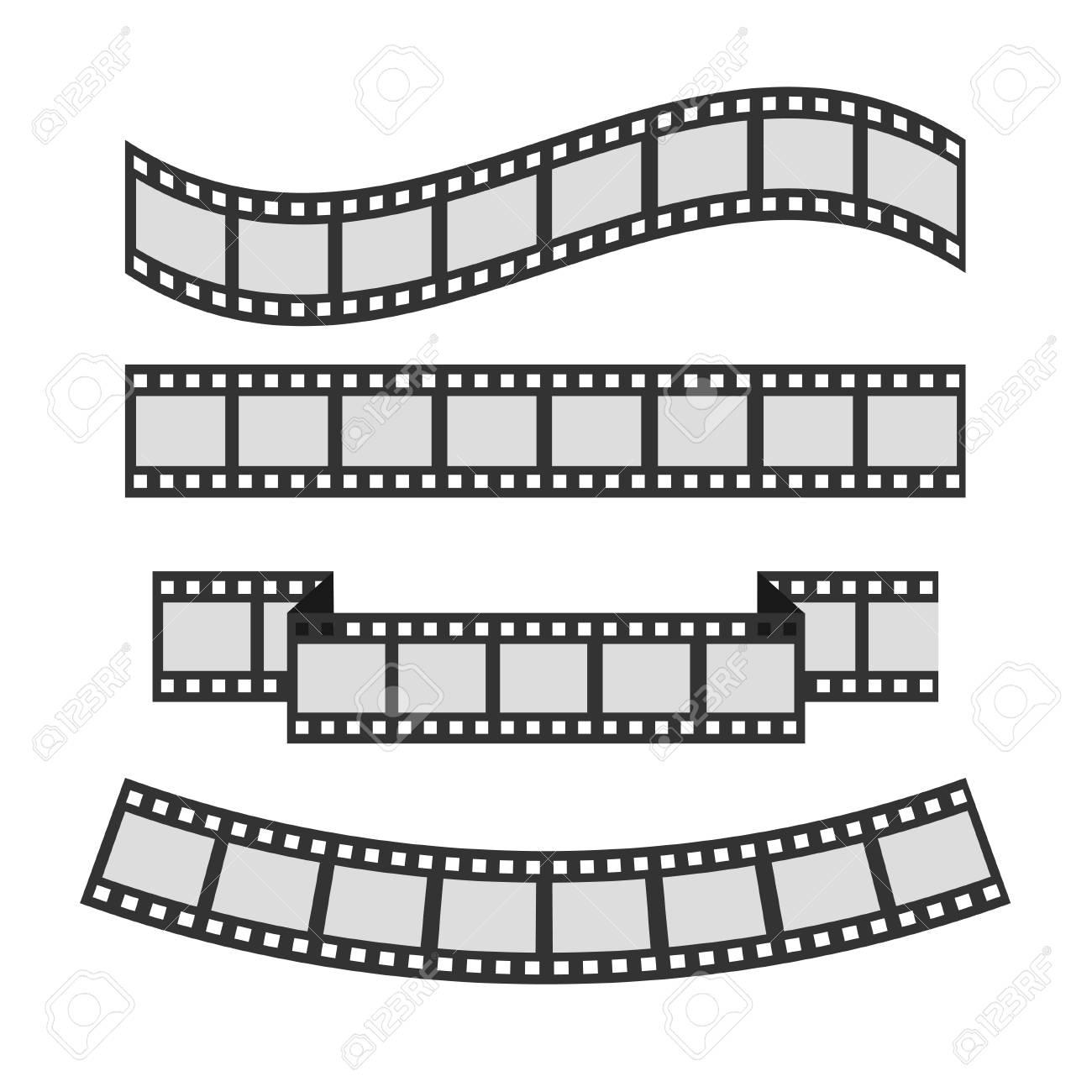 Filmstreifenrahmen-Set. Unterschiedliches Formband. Vorlage ...