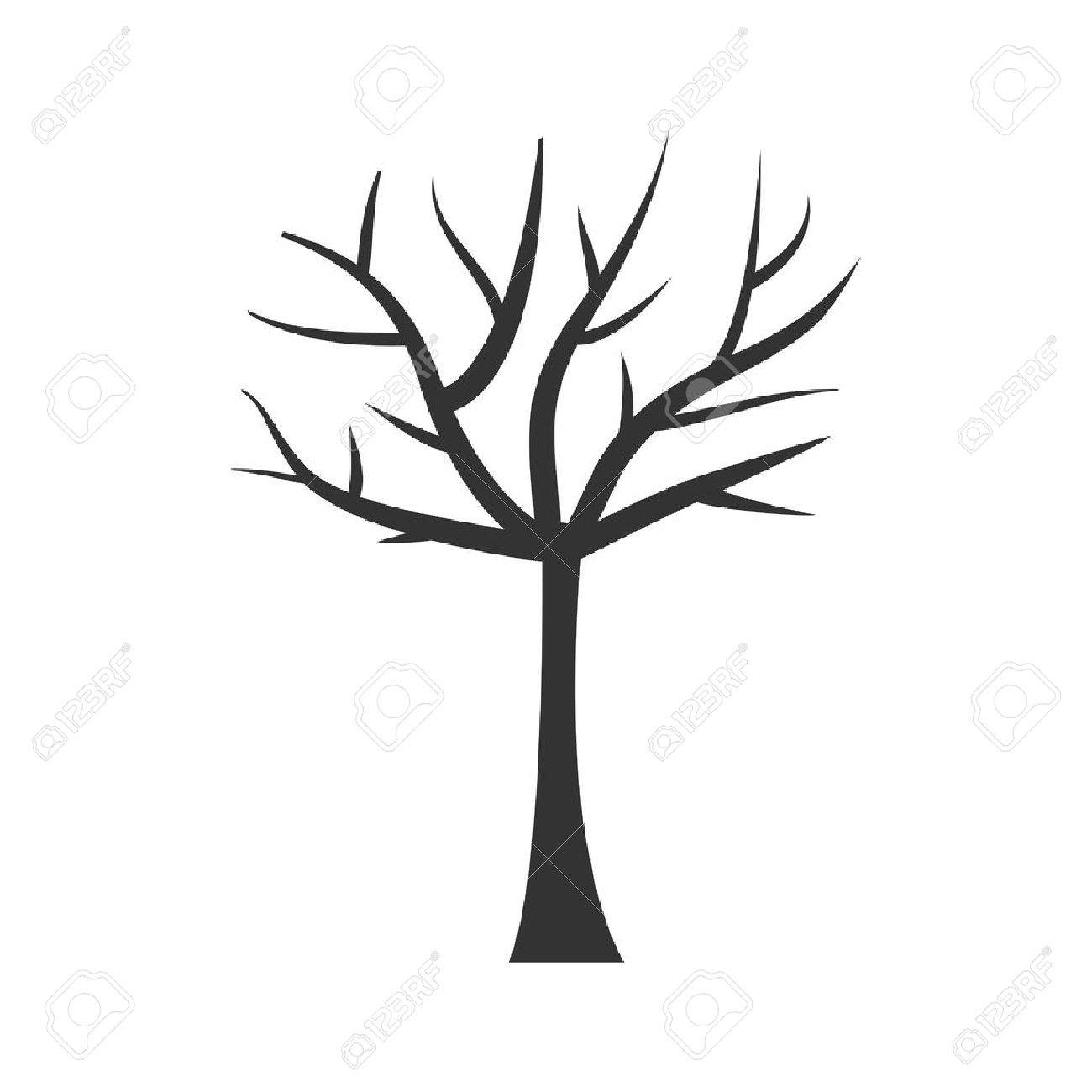 Tree Trunk Silhouette Tree Branch Plant Clip Art Isolated