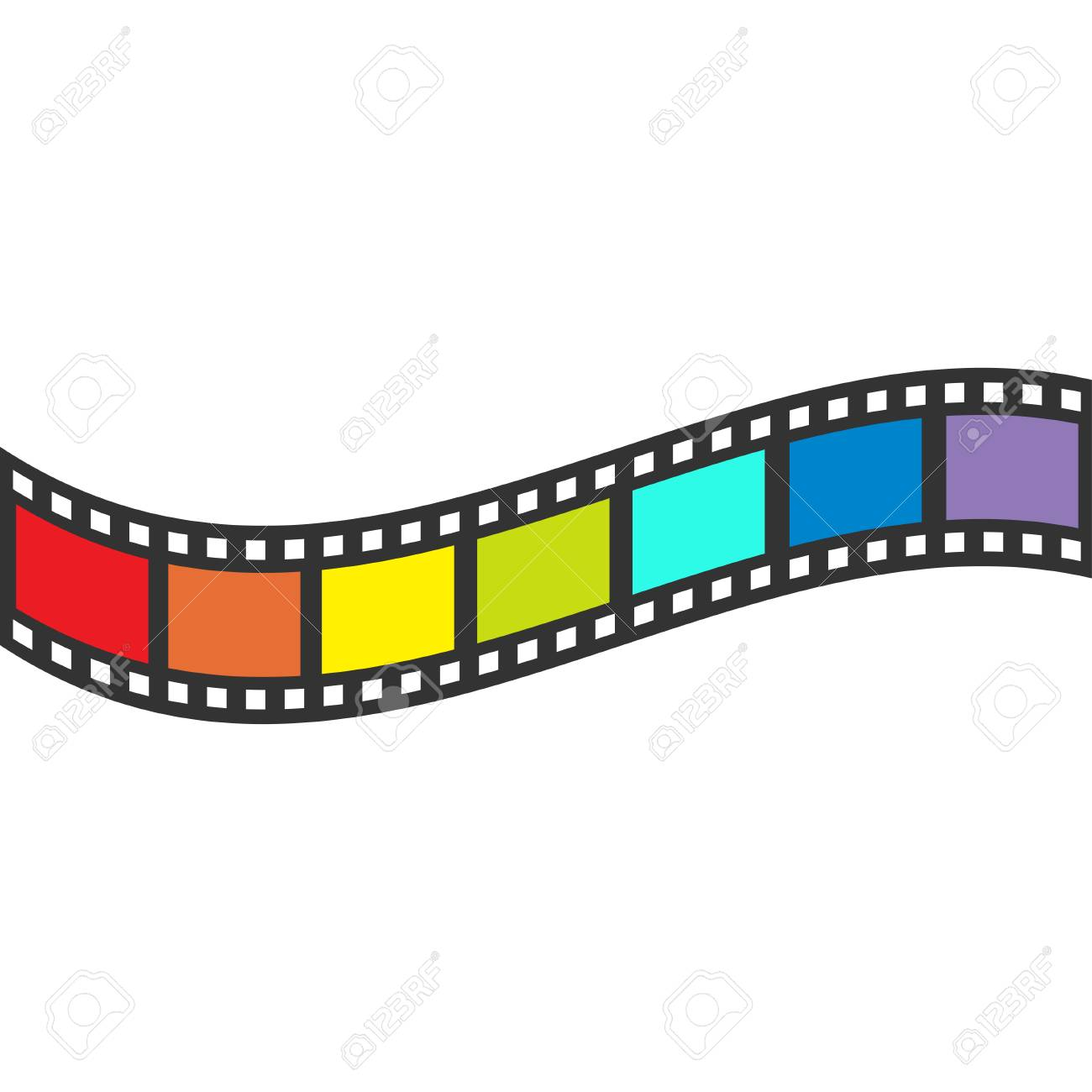 Rainbow Flag Filmstreifen Rahmen. Wellenform Band. Design-Element ...