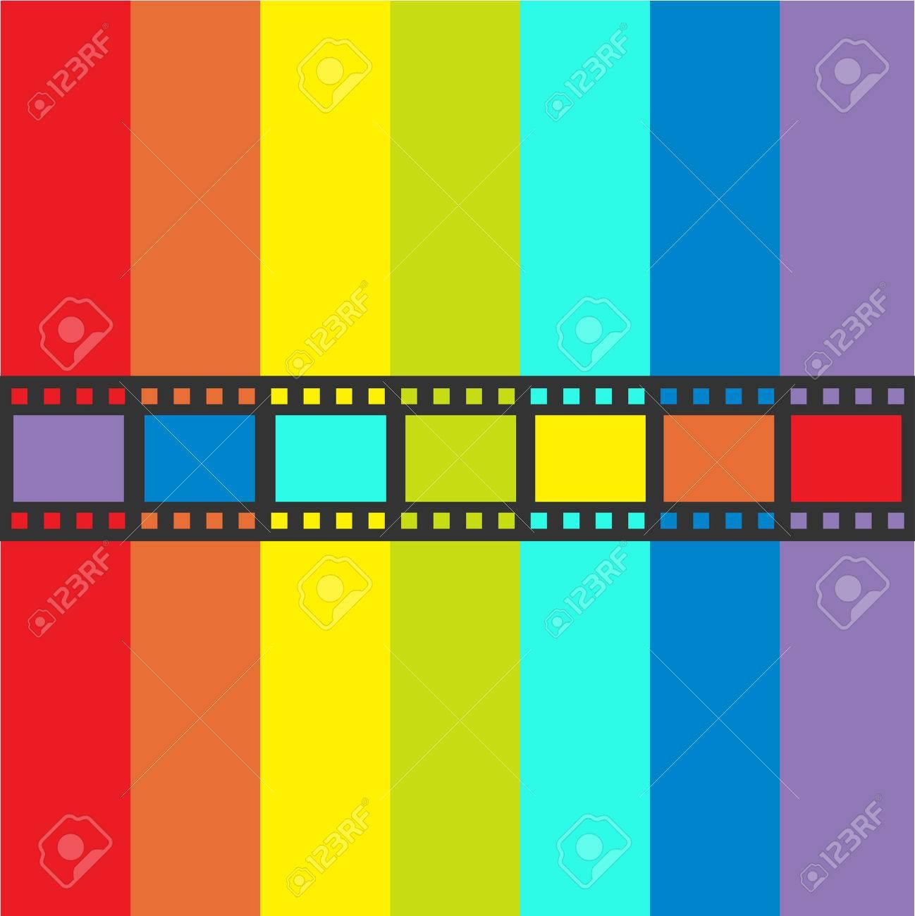 Rainbow Flag Filmstreifen Rahmen. Gerade Form Band. Design-Element ...