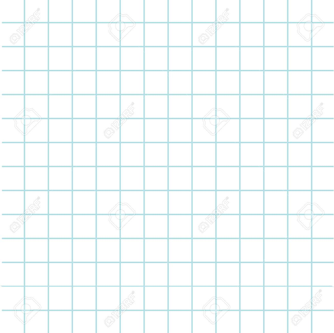 Notebook Paper Texture Cell Template. Squared Blank Sheet Of Copybook  Background. Flat Design.