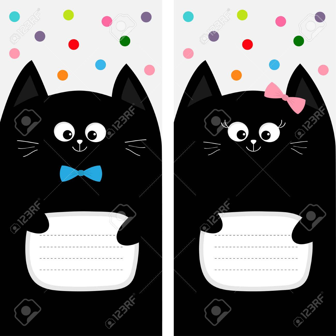 Poster Notebook Cover Composition Book Template Black Cat Kitty