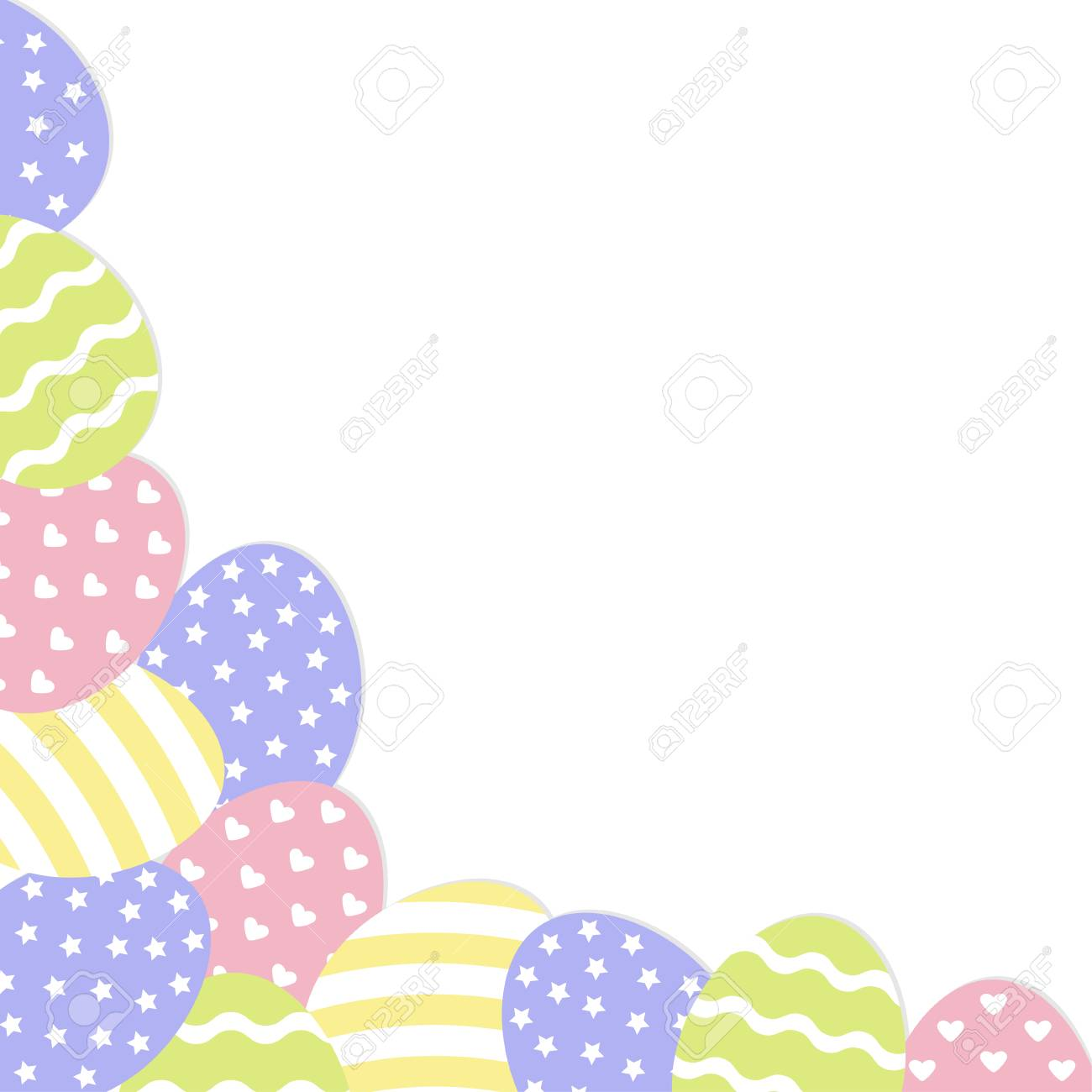 Happy easter painted egg corner frame painting shell heart happy easter painted egg corner frame painting shell heart star line m4hsunfo