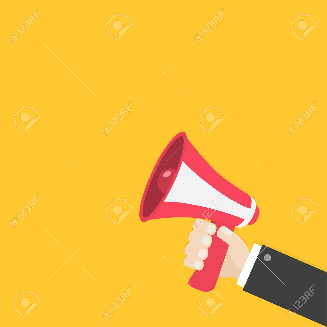 businessman hand holding megaphone speaker loudspeaker icon royalty free cliparts vectors and stock illustration image 81041422 businessman hand holding megaphone speaker loudspeaker icon