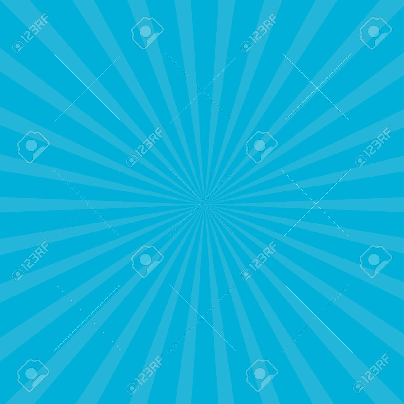 sunburst starburst with ray of light blue color template abstract background flat design