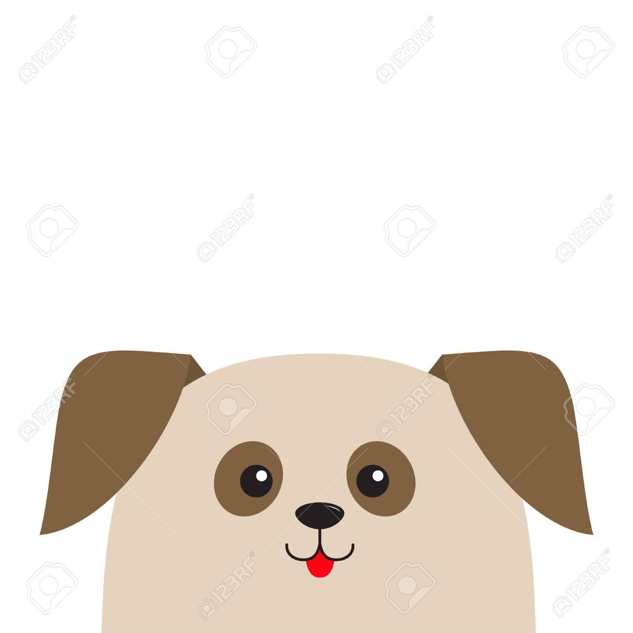 Vettoriale cercare testa di cucciolo di cane personaggio
