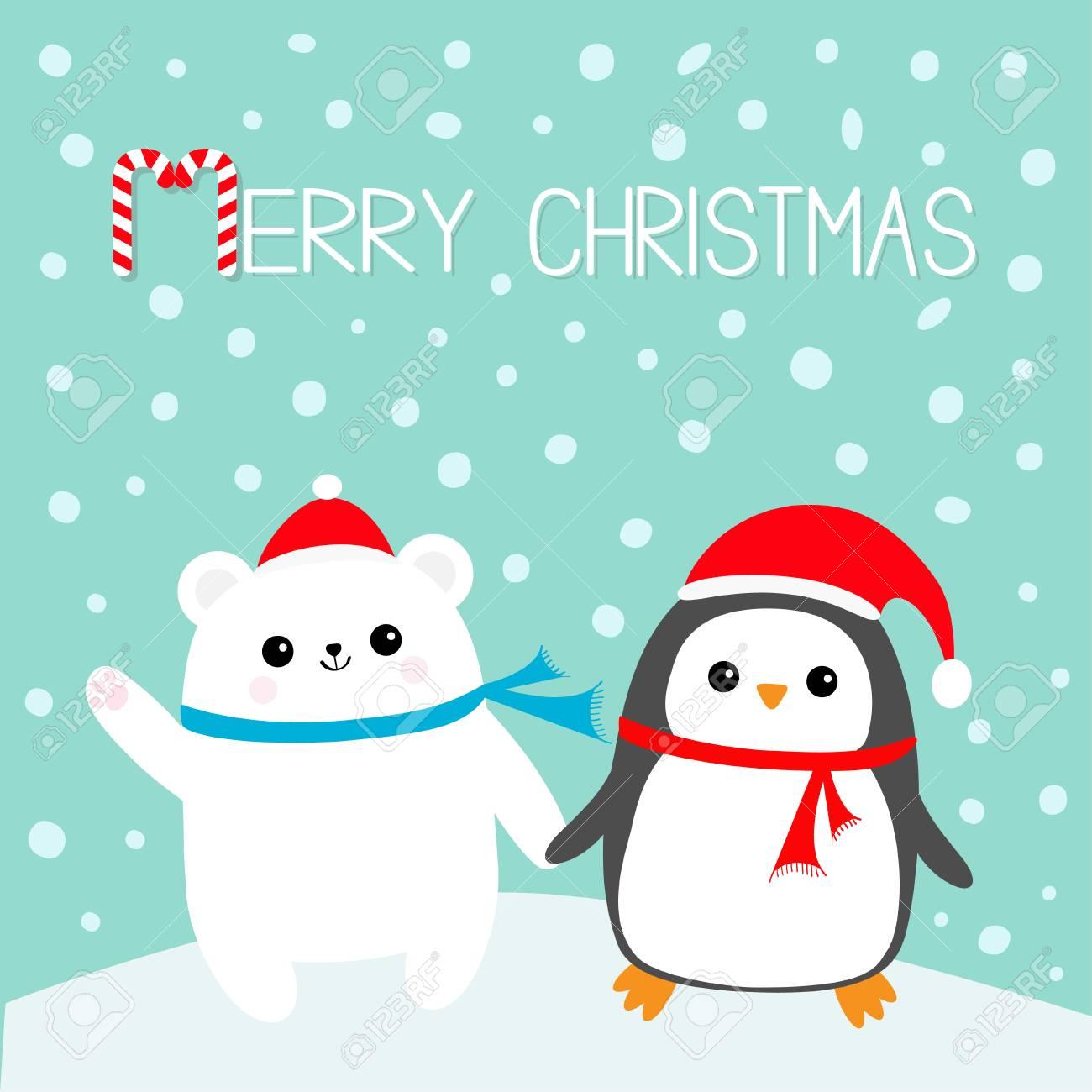 Joyeux Noel Sucre D Orge Oiseau Pingouin Ours Blanc Polaire