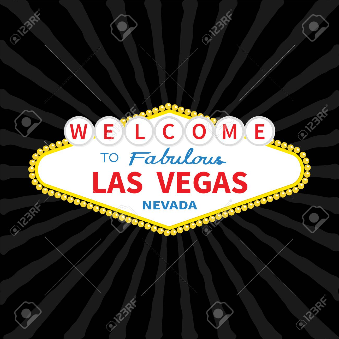 Welcome to las vegas sign icon classic retro symbol nevada welcome to las vegas sign icon classic retro symbol nevada sight showplace flat buycottarizona Gallery