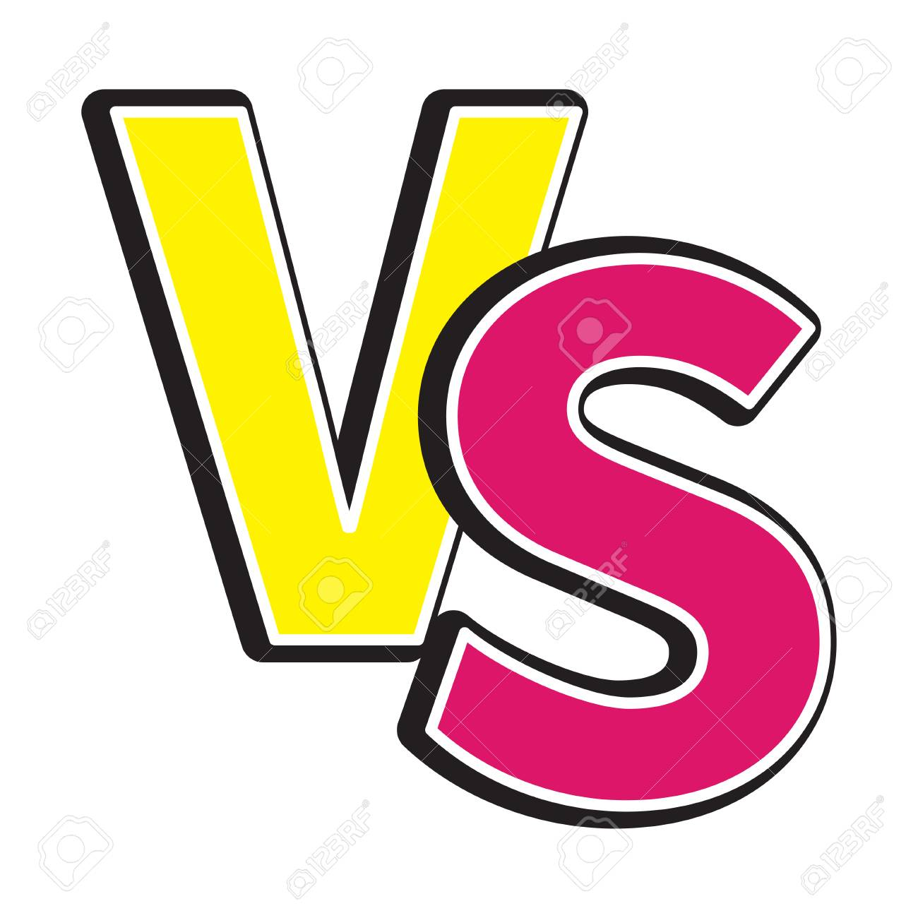 Versus Letters Icon Or Vs Battle Fight Competition Sign Symbol
