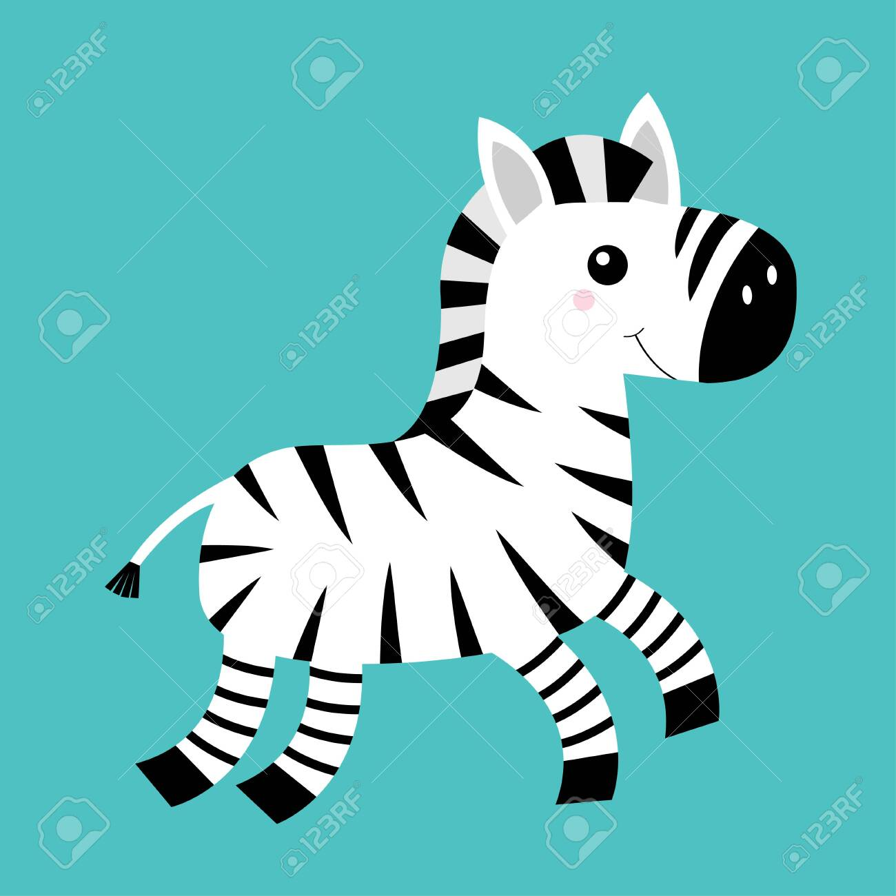 Zebra Icon Black Striped Horse Jumping Notebook Cover T Shirt Royalty Free Cliparts Vectors And Stock Illustration Image 144529558