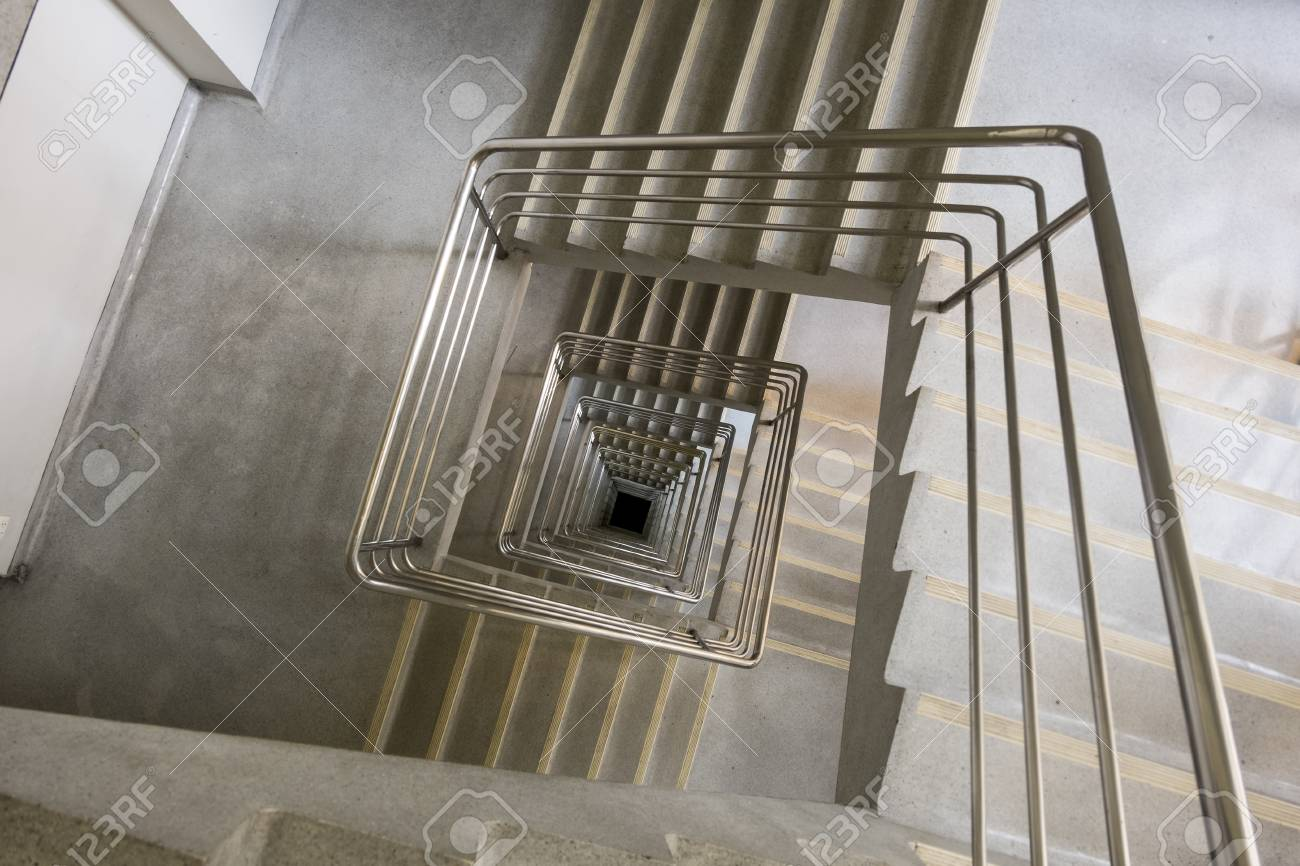 Great Stock Photo   Upside View Of A Square Staircase