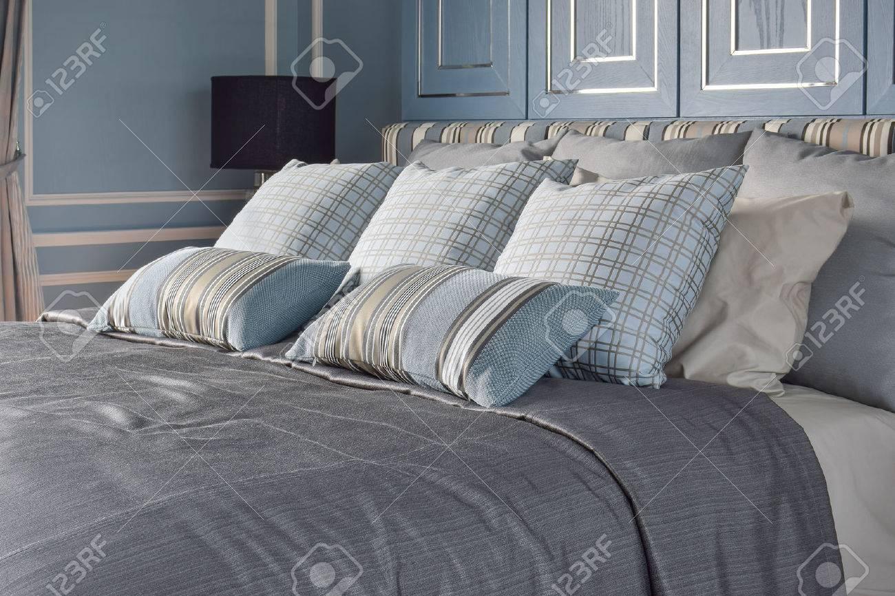 hellblau romantischen stil schlafzimmer mit muster und textur der