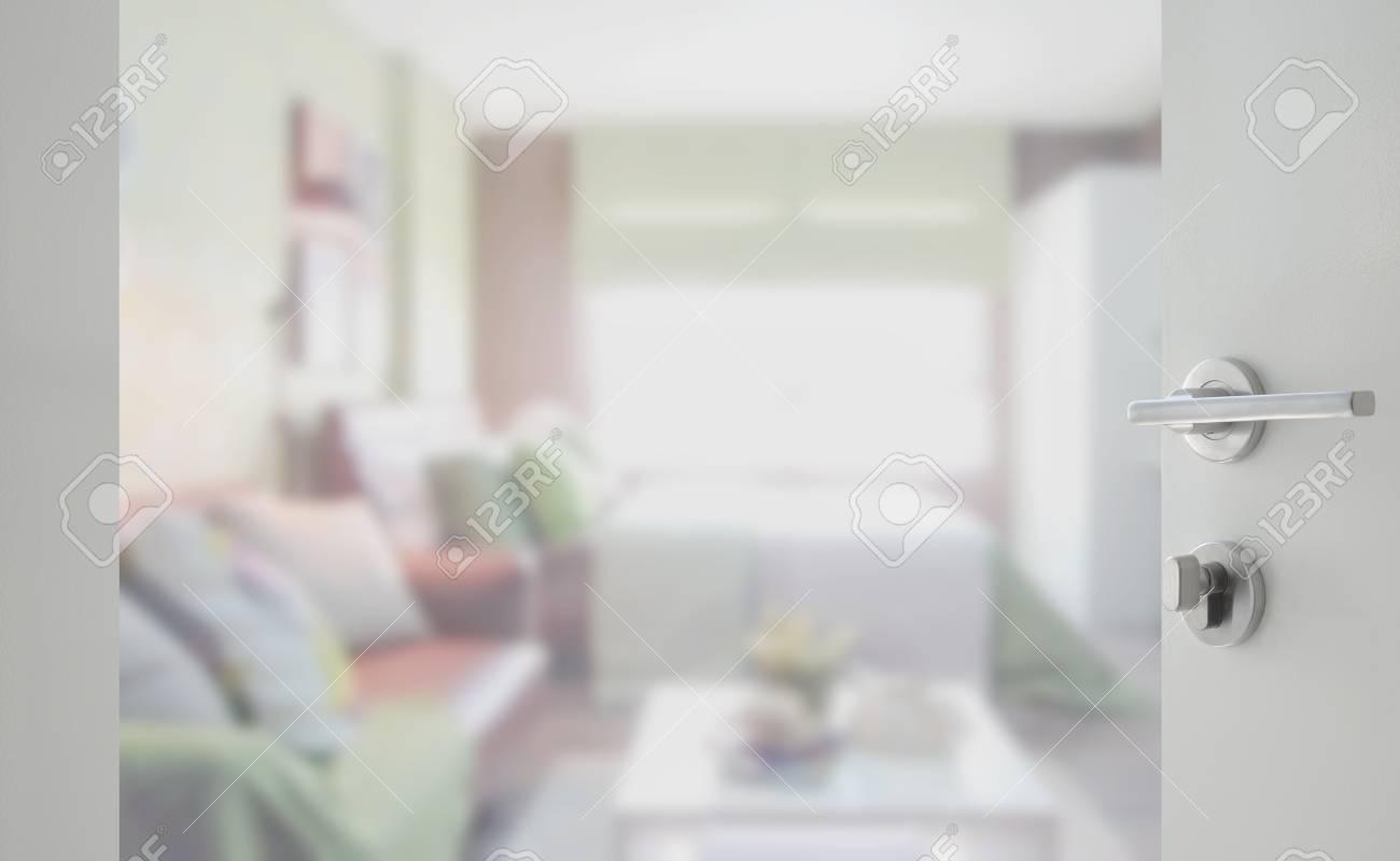 Camera Da Letto Con Divano : Sfondo sfocato camera da letto con divano foto royalty free