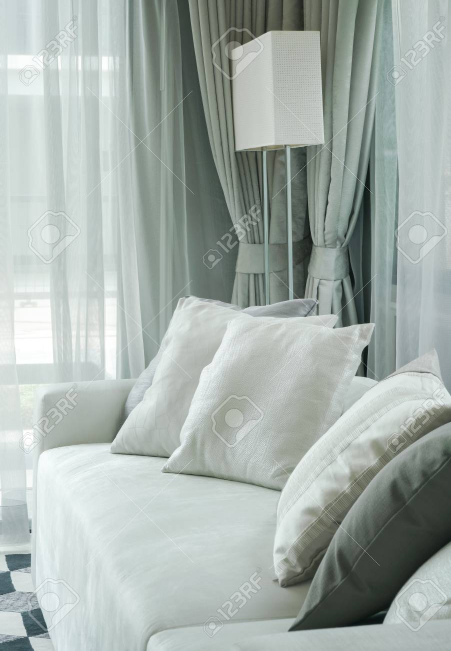 Gray Color Scheme Living Room Stock Photo Picture And Royalty