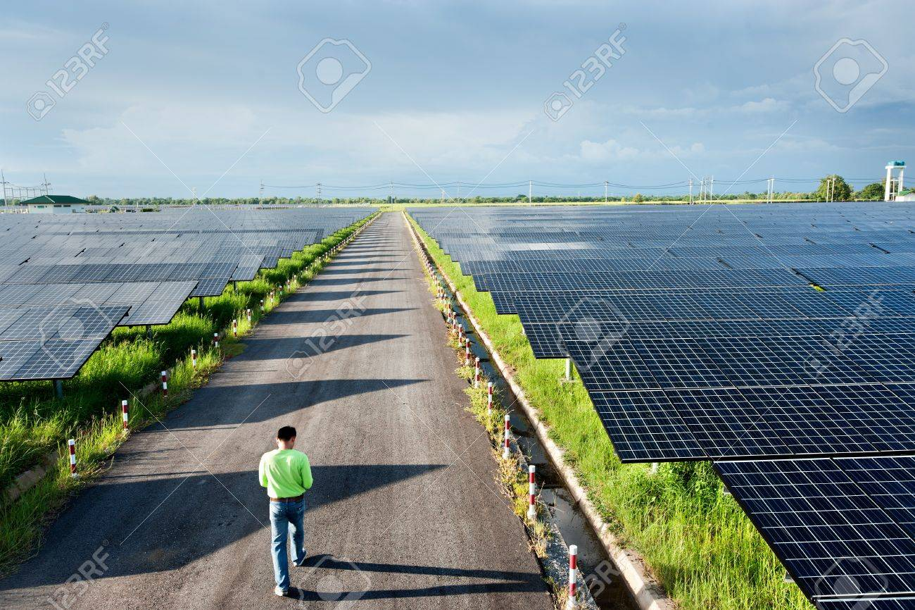 Solar power station top view Stock Photo - 11722449
